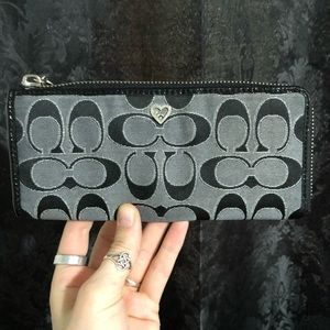 Coach Black Wallet/Clutch